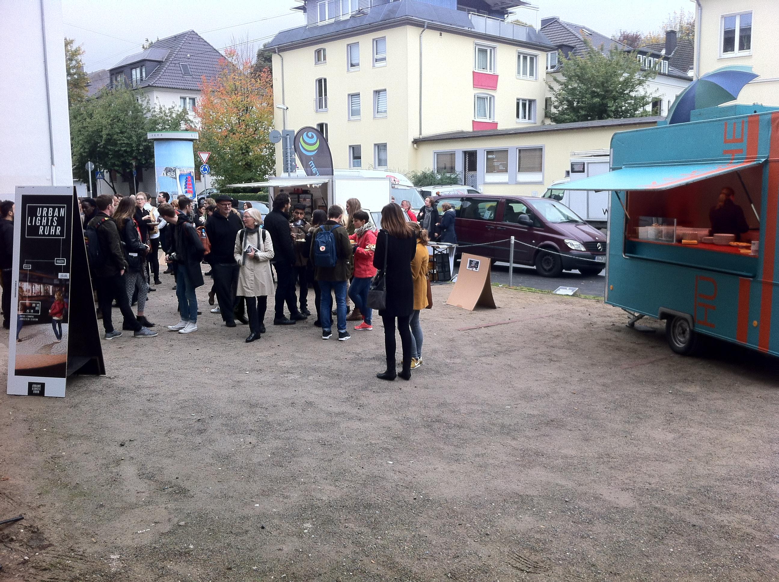 HUstadt mobil bei Eröffnung von Urban Lights Ruhr 2015 in Hagen
